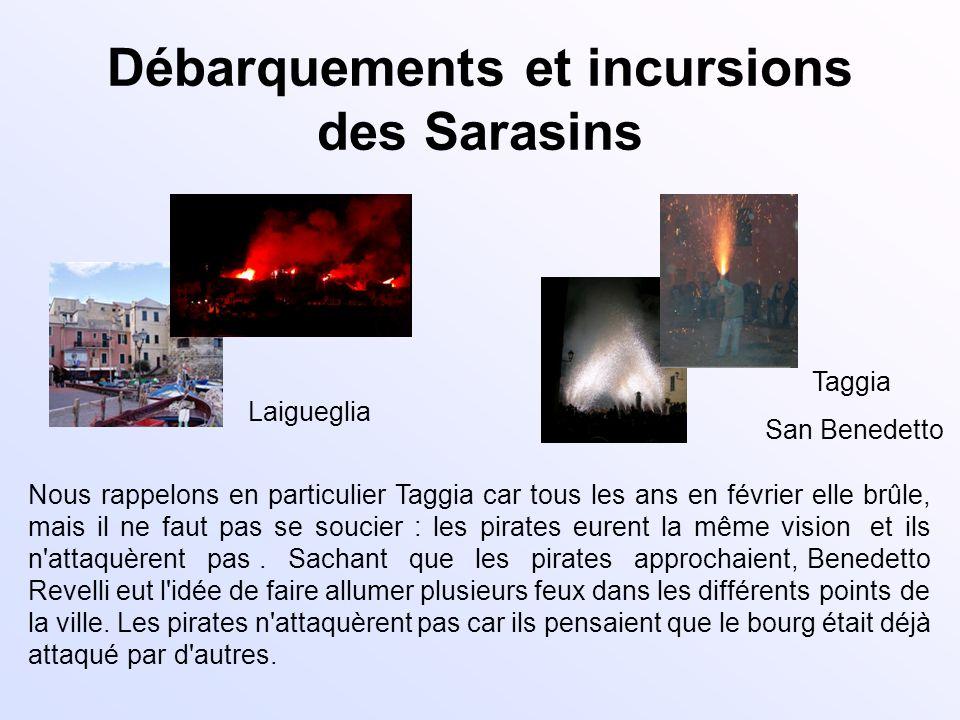 Débarquements et incursions des Sarasins