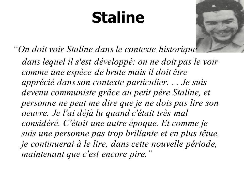Staline On doit voir Staline dans le contexte historique