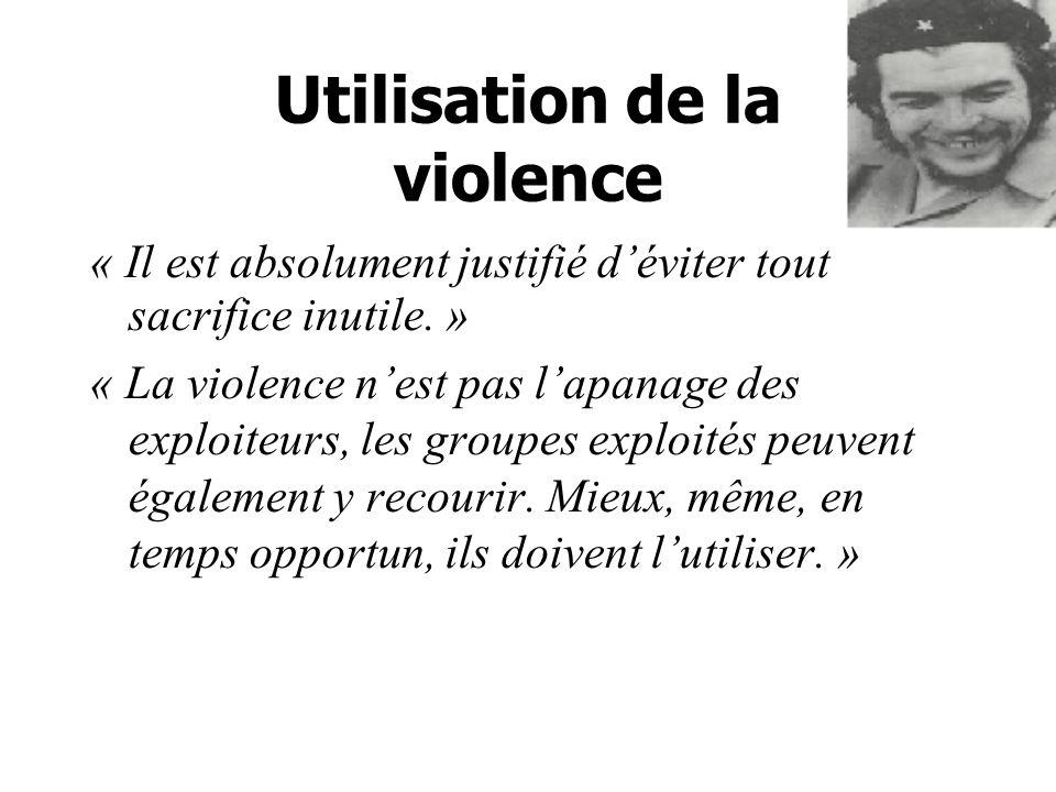 Utilisation de la violence
