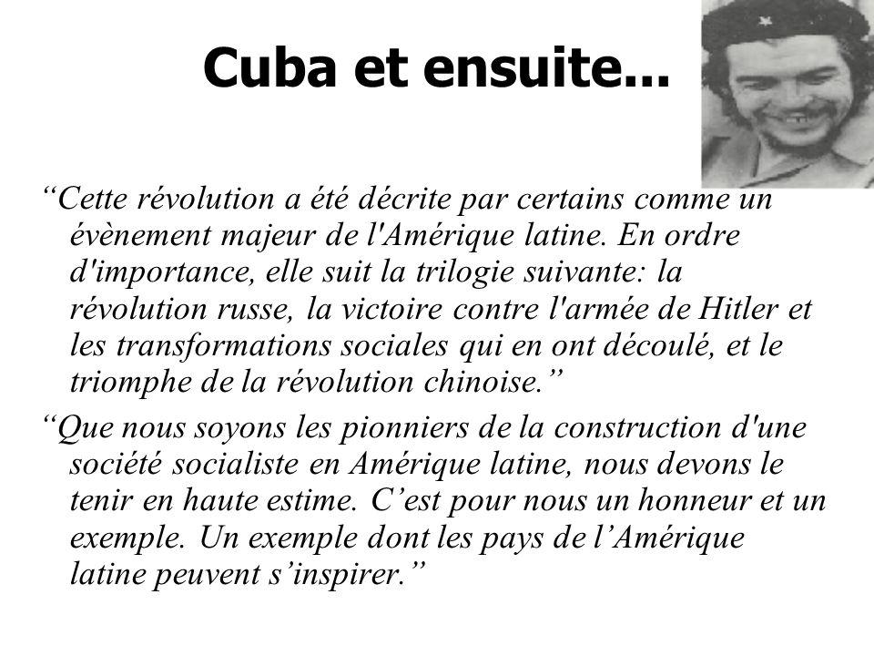 Cuba et ensuite...