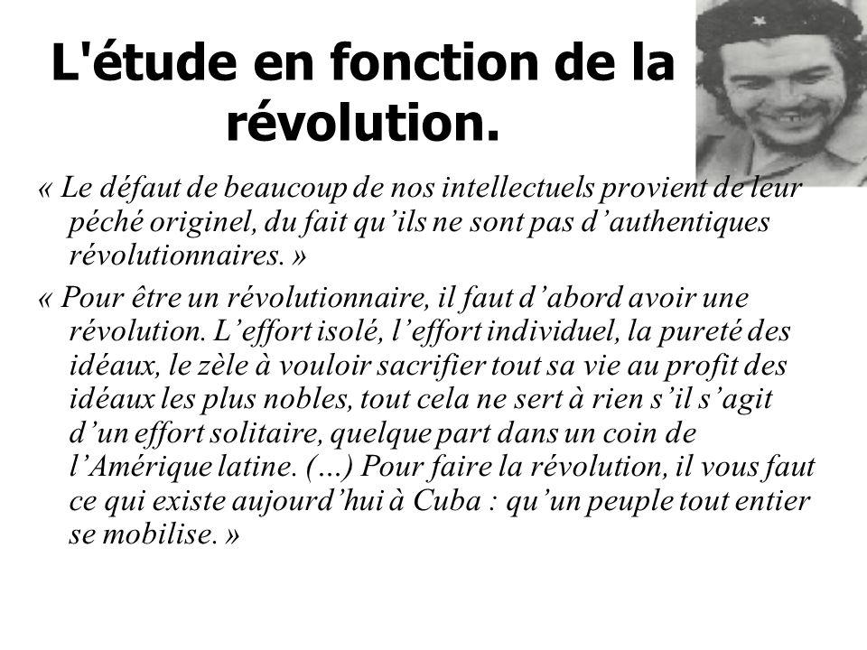 L étude en fonction de la révolution.