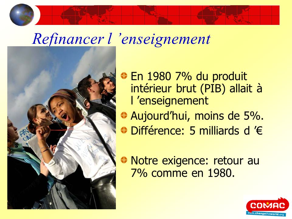 Refinancer l 'enseignement