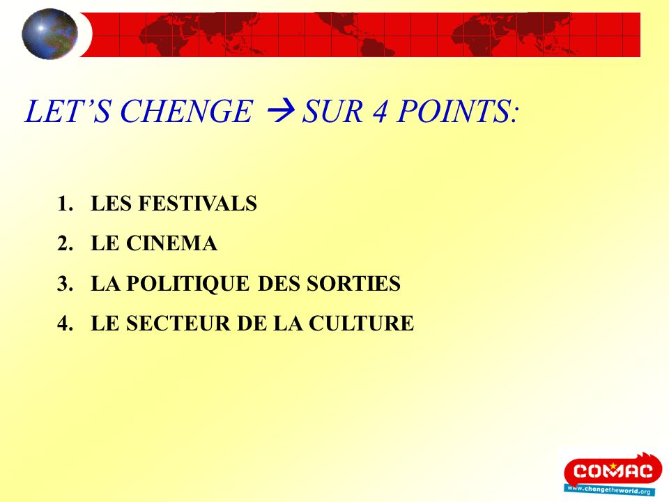 LET'S CHENGE  SUR 4 POINTS: