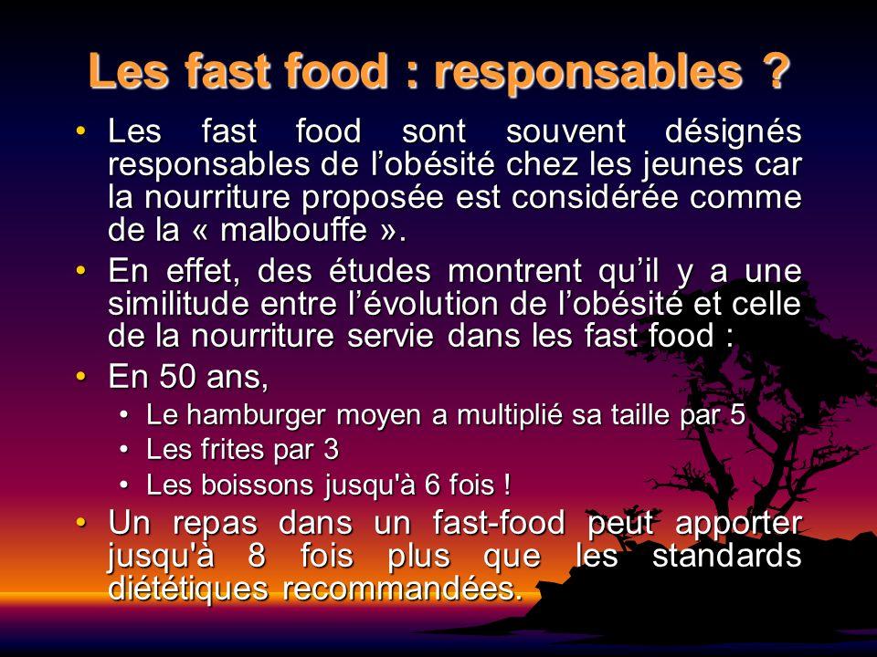 Les fast food : responsables