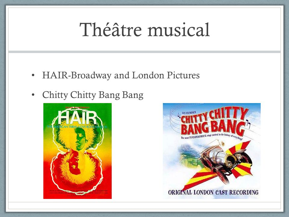 Théâtre musical HAIR-Broadway and London Pictures