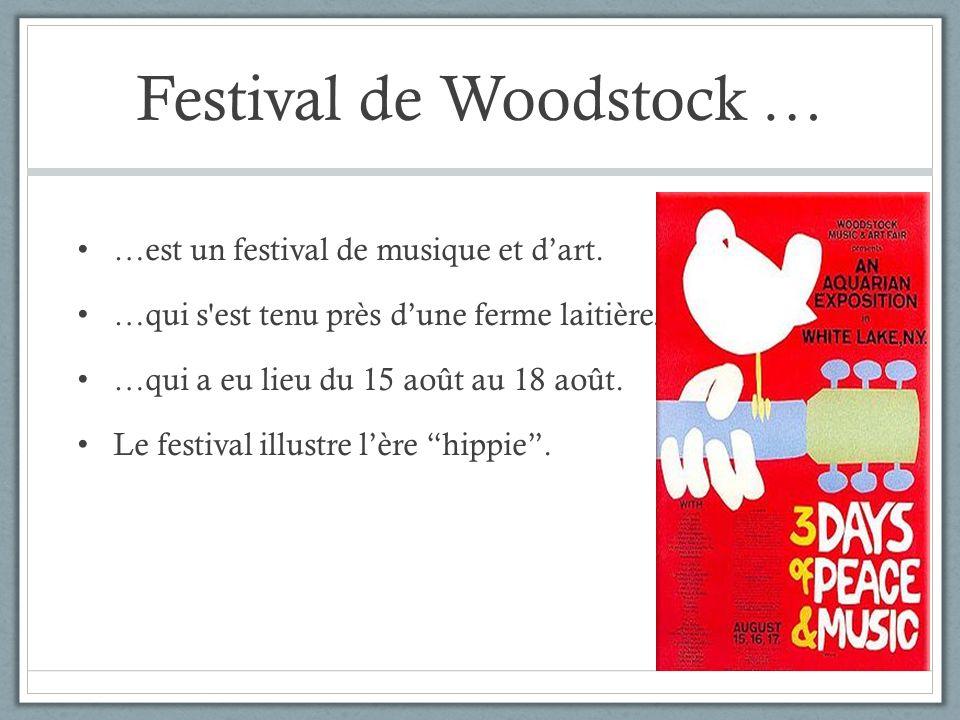 Festival de Woodstock …
