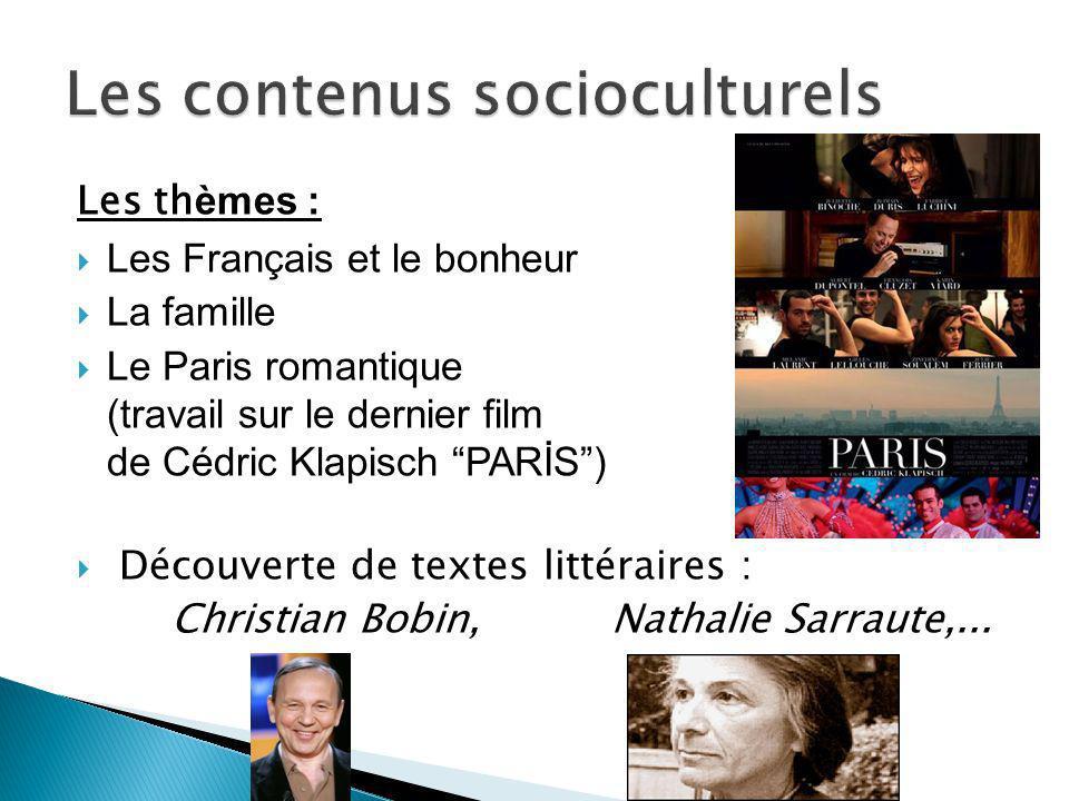 Les contenus socioculturels