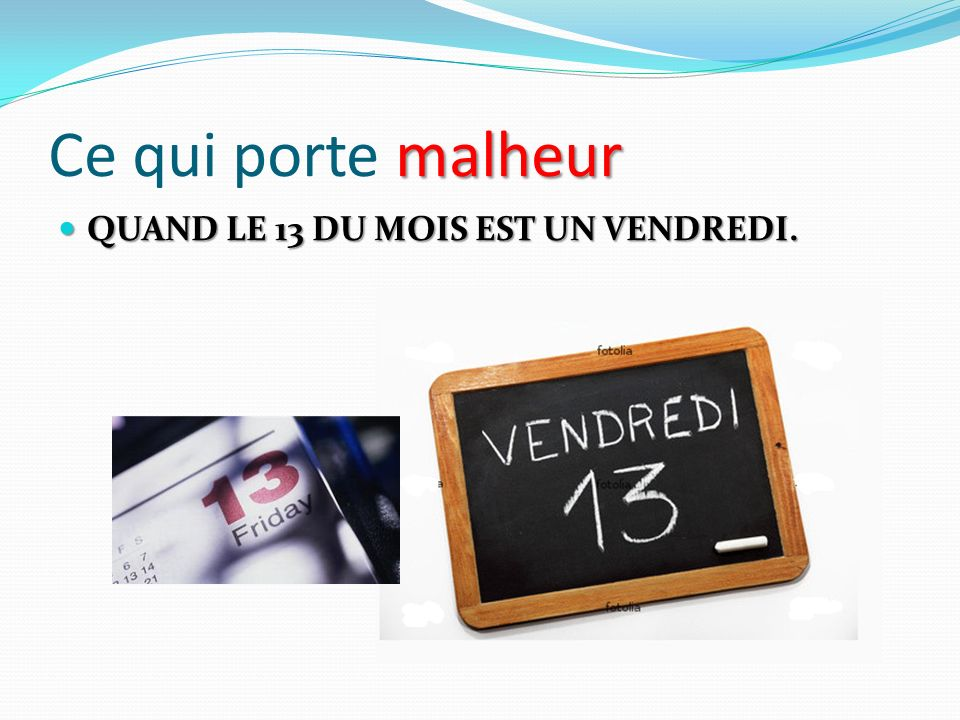 Les superstitions 9 abcd f vrier ppt video online t l charger for 13 porte malheur