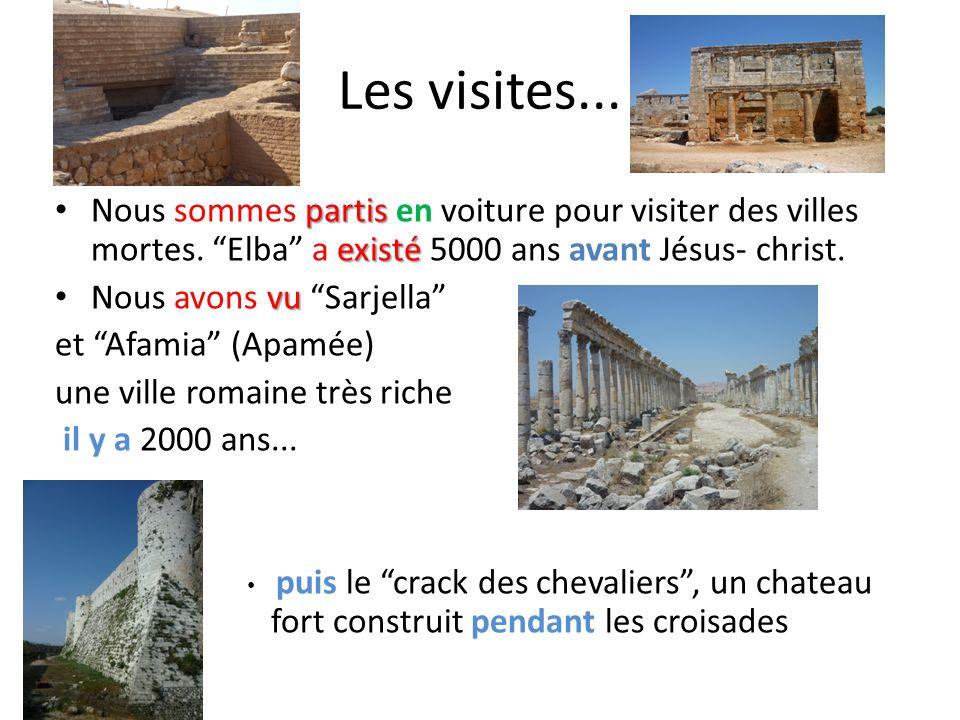 Les visites... Nous sommes partis en voiture pour visiter des villes mortes. Elba a existé 5000 ans avant Jésus- christ.
