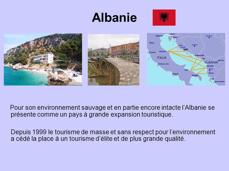 Albanie Pour son environnement sauvage et en partie encore intacte l'Albanie se présente comme un pays à grande expansion touristique.