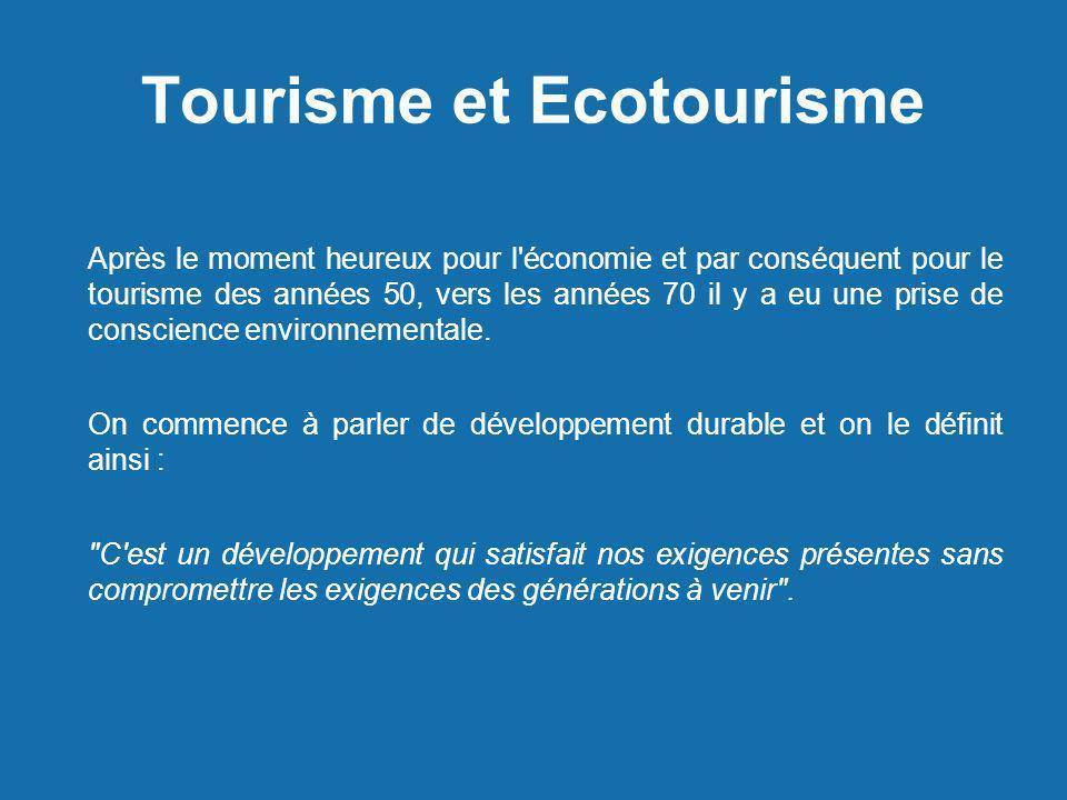 Tourisme et Ecotourisme