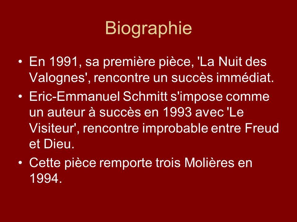 BiographieEn 1991, sa première pièce, La Nuit des Valognes , rencontre un succès immédiat.