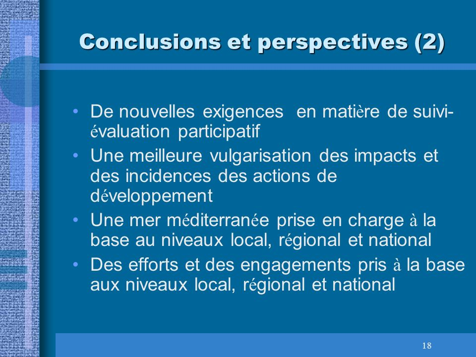 Conclusions et perspectives (2)