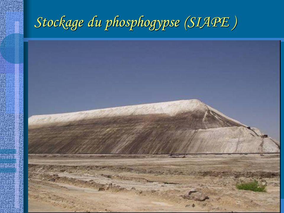 Stockage du phosphogypse (SIAPE )
