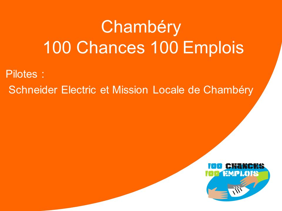 Chambéry 100 Chances 100 Emplois