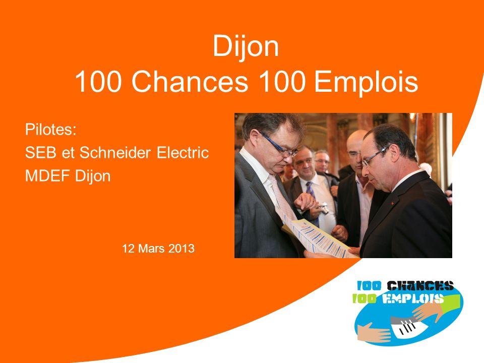 Pilotes: SEB et Schneider Electric MDEF Dijon