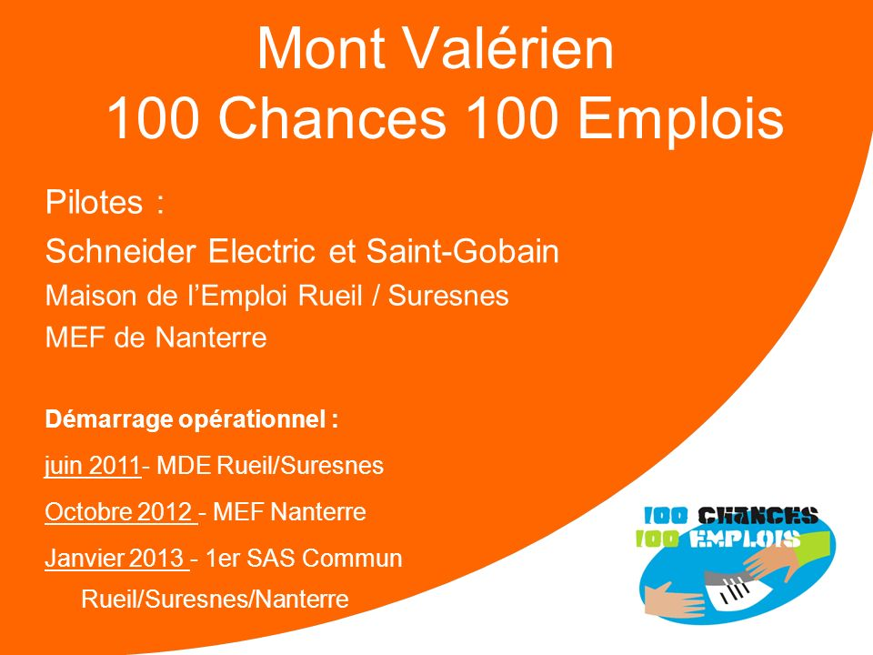 Mont Valérien 100 Chances 100 Emplois