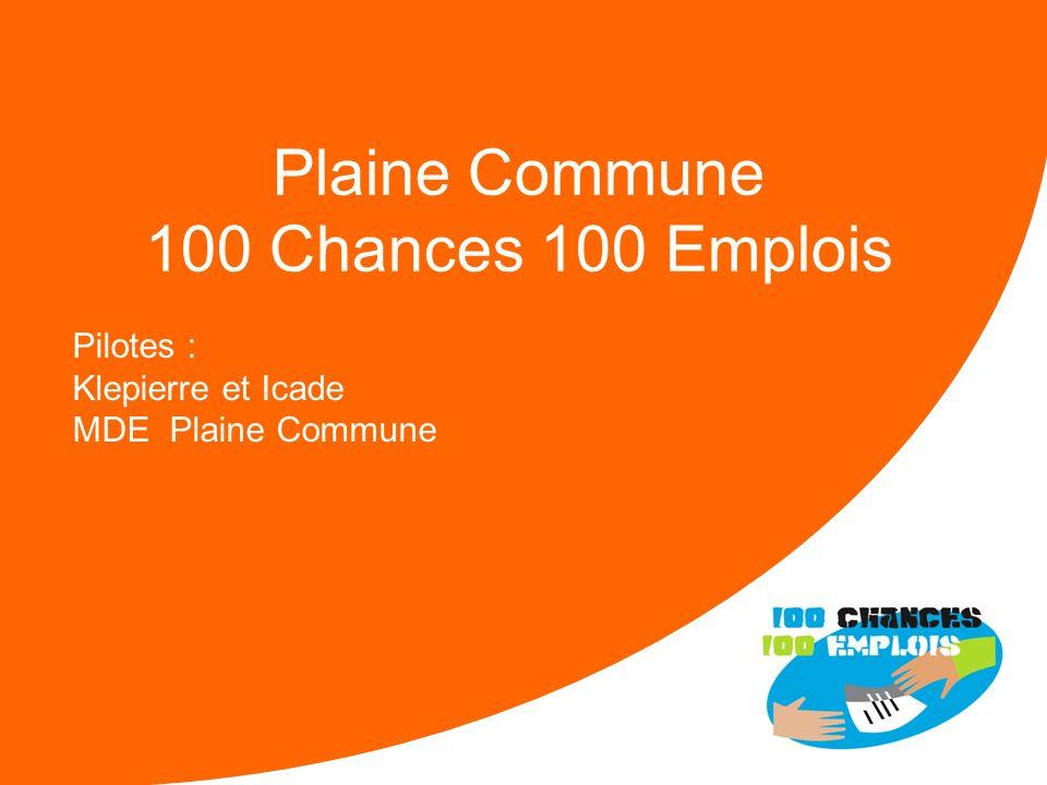 Plaine Commune 100 Chances 100 Emplois