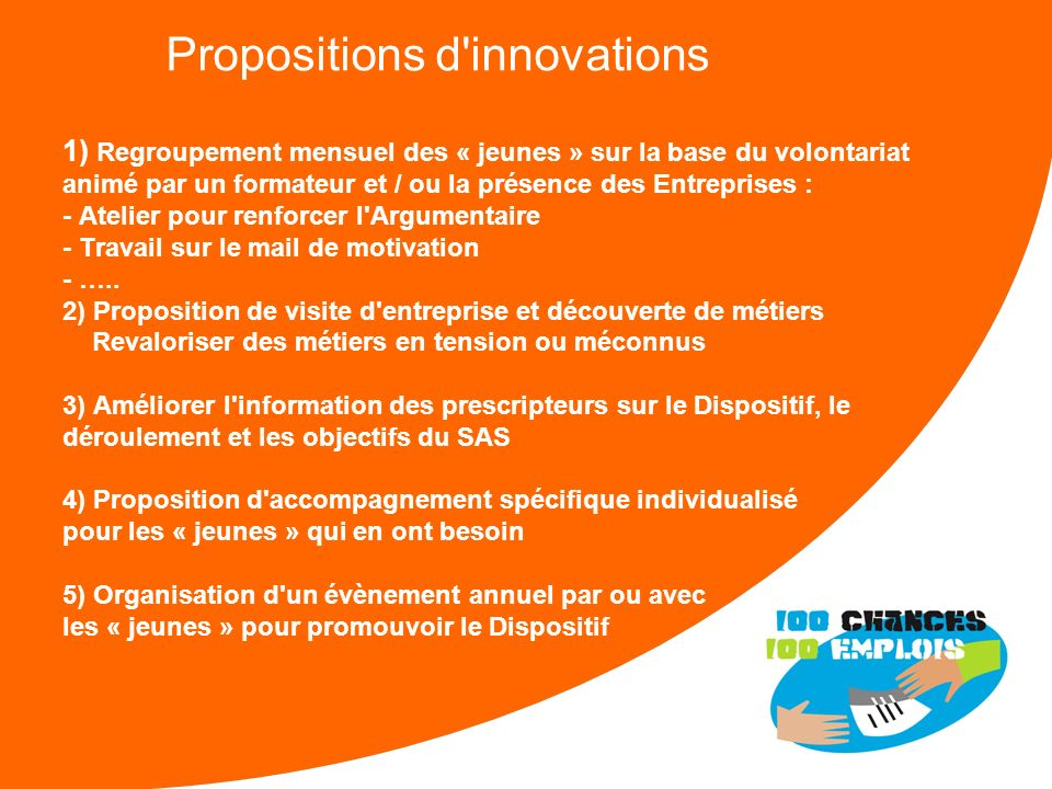 Propositions d innovations