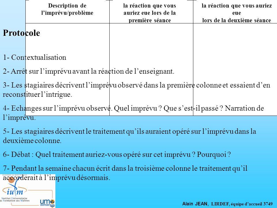 Protocole 1- Contextualisation