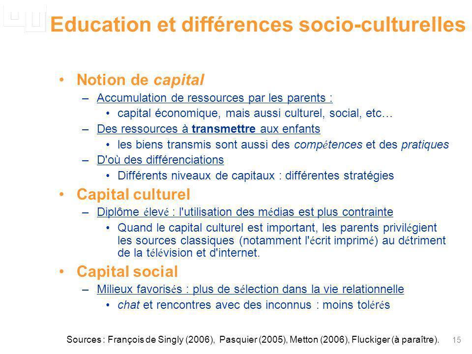 Education et différences socio-culturelles