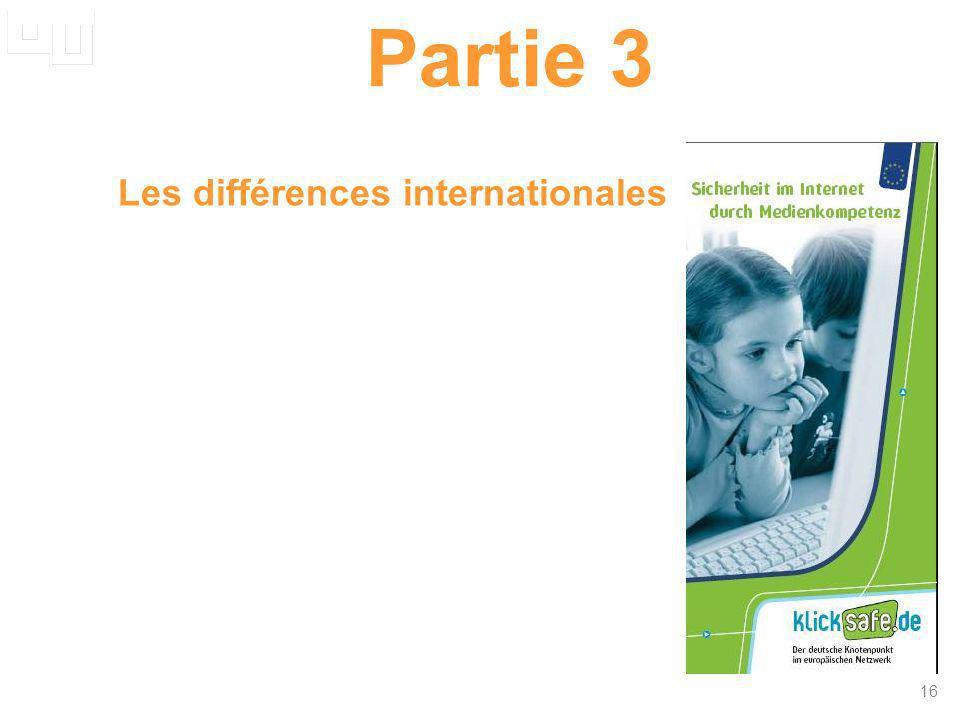 Partie 3 Les différences internationales