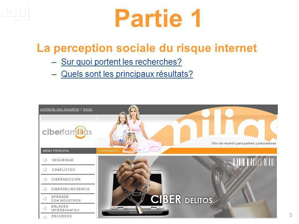 Partie 1 La perception sociale du risque internet