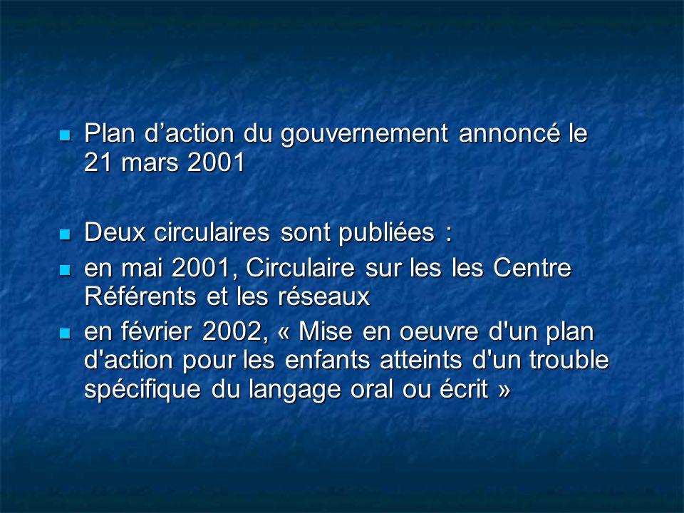 Plan d'action du gouvernement annoncé le 21 mars 2001