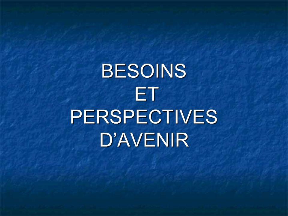 BESOINS ET PERSPECTIVES D'AVENIR