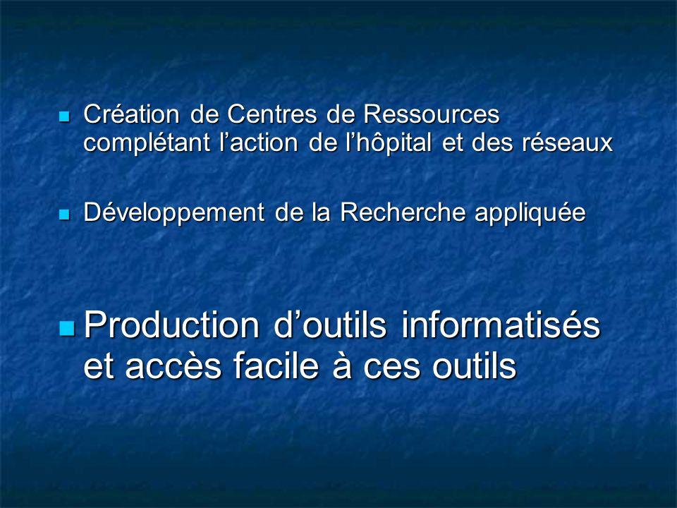 Production d'outils informatisés et accès facile à ces outils