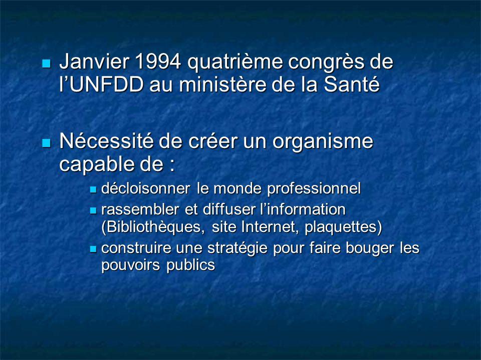 Janvier 1994 quatrième congrès de l'UNFDD au ministère de la Santé