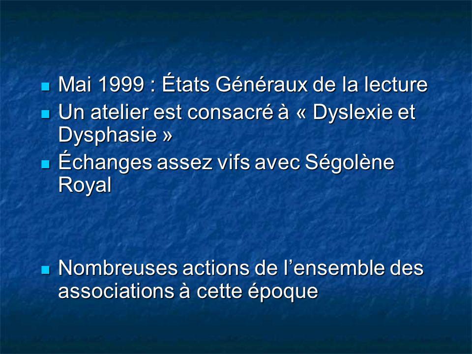 Mai 1999 : États Généraux de la lecture