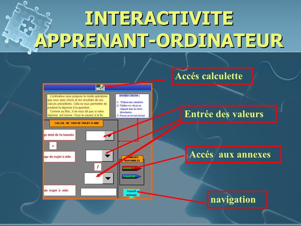 INTERACTIVITE APPRENANT-ORDINATEUR