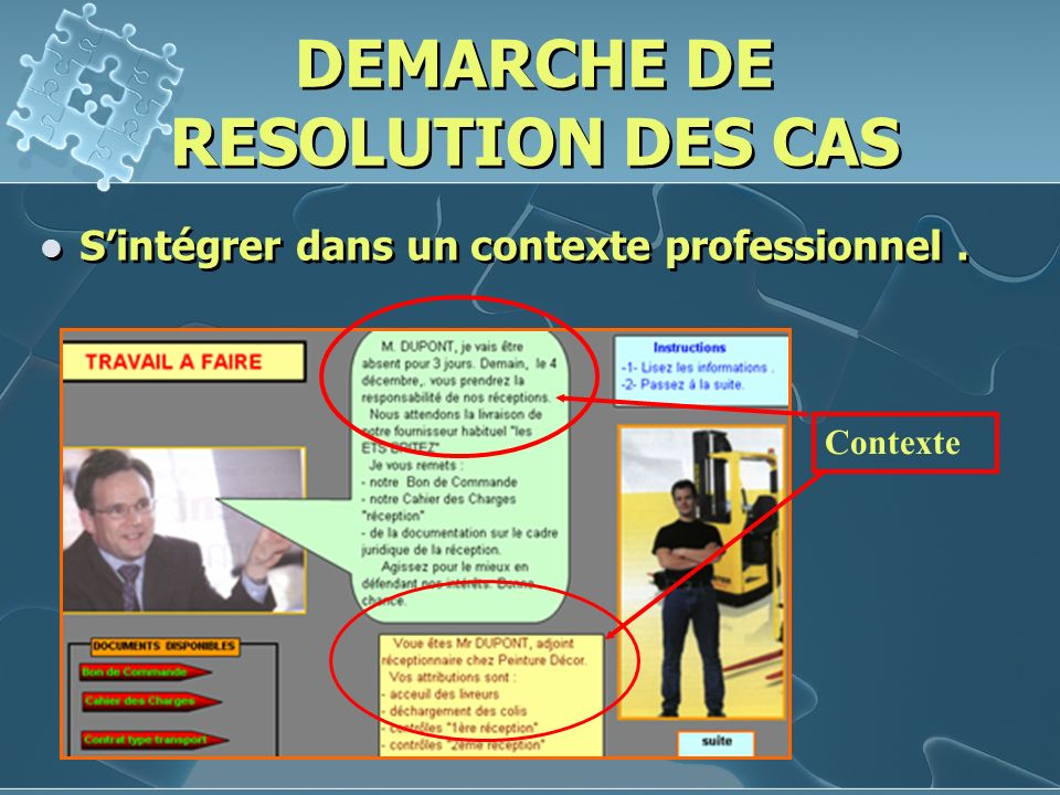DEMARCHE DE RESOLUTION DES CAS