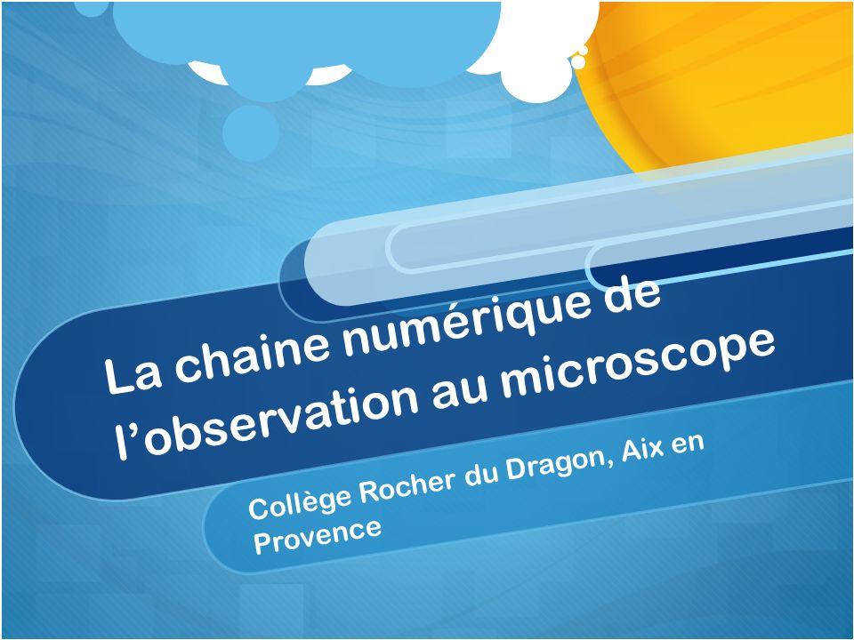 La chaine numérique de l'observation au microscope
