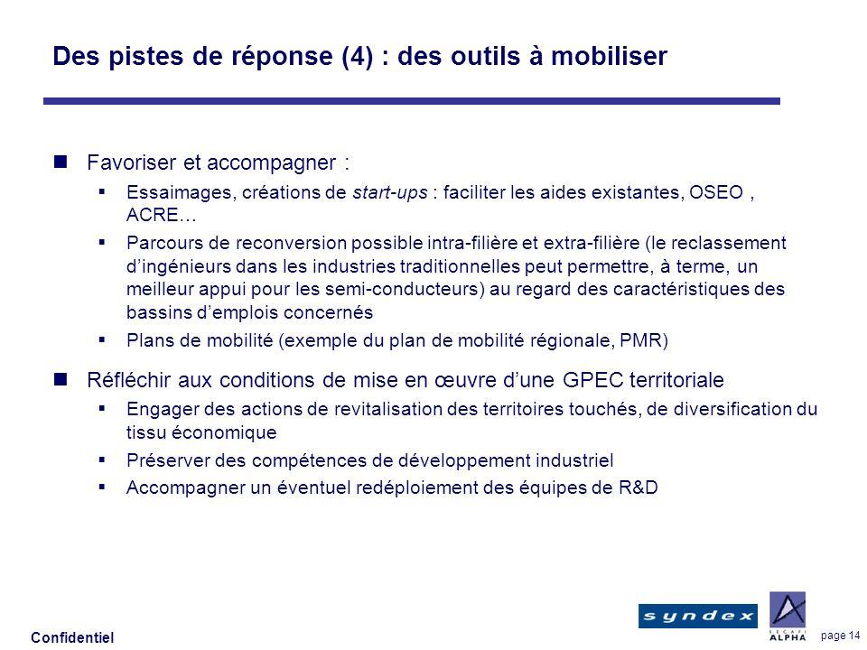 Des pistes de réponse (4) : des outils à mobiliser