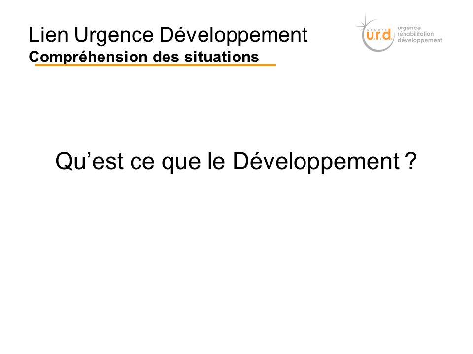 Lien Urgence Développement Compréhension des situations