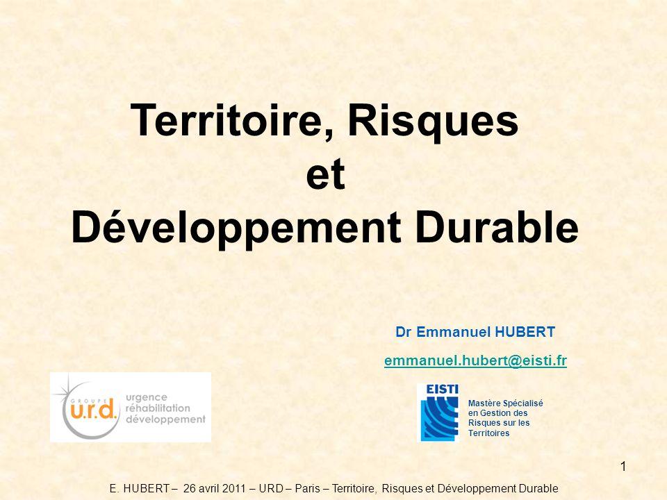 Territoire, Risques et Développement Durable