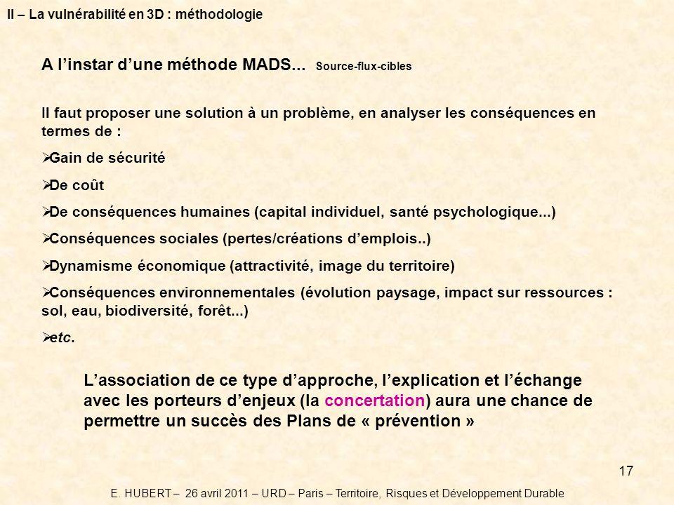 A l'instar d'une méthode MADS... Source-flux-cibles