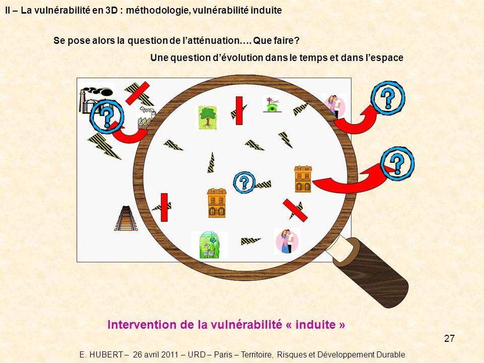 Intervention de la vulnérabilité « induite »