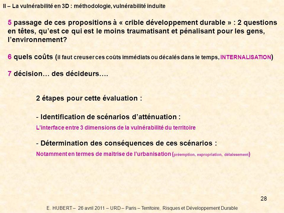 7 décision… des décideurs….