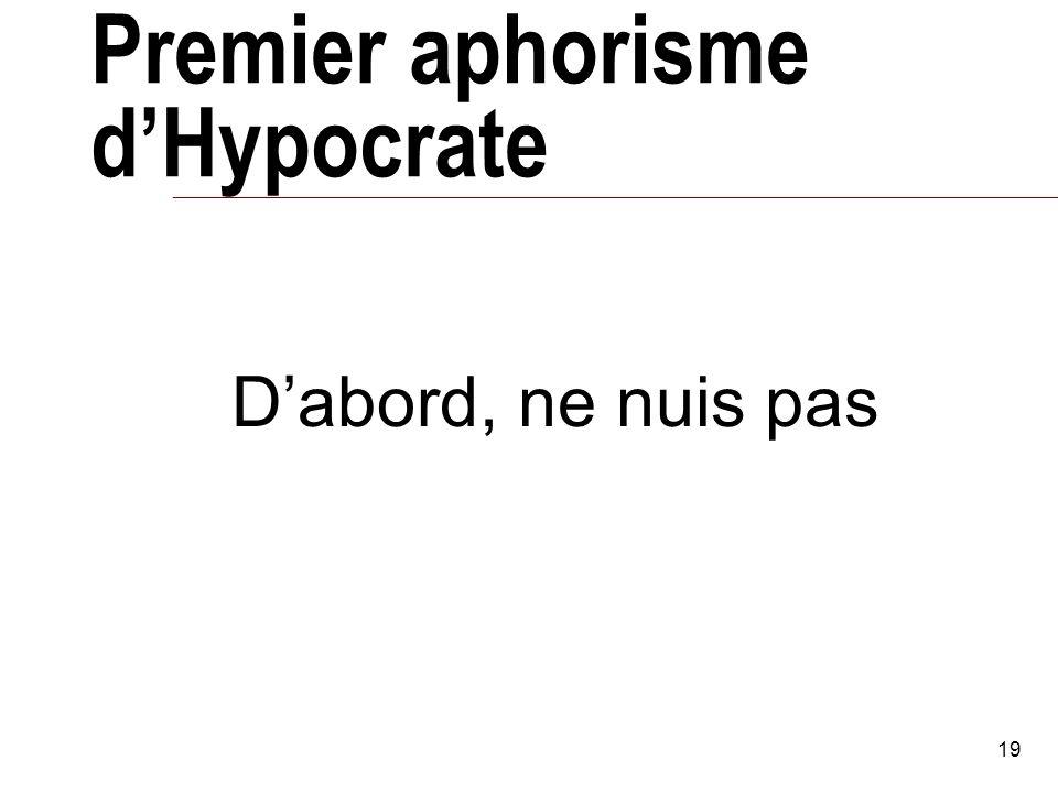 Premier aphorisme d'Hypocrate