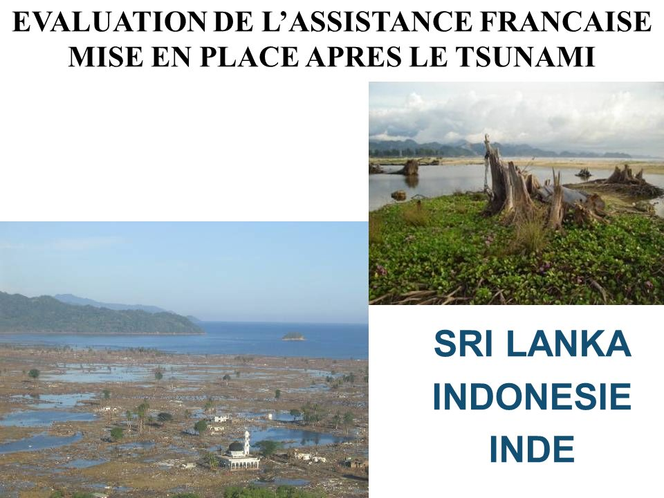 EVALUATION DE L'ASSISTANCE FRANCAISE MISE EN PLACE APRES LE TSUNAMI