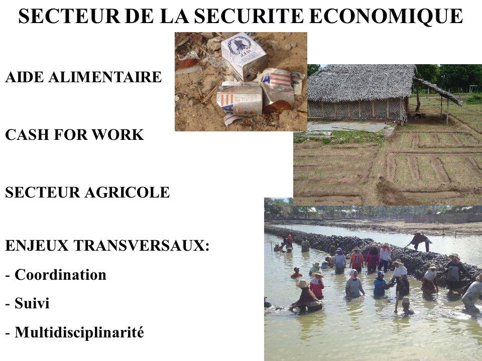 SECTEUR DE LA SECURITE ECONOMIQUE