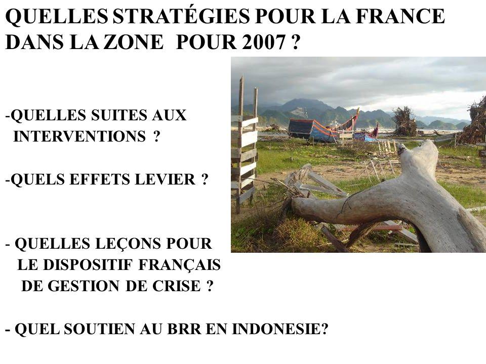 QUELLES STRATÉGIES POUR LA FRANCE DANS LA ZONE POUR 2007