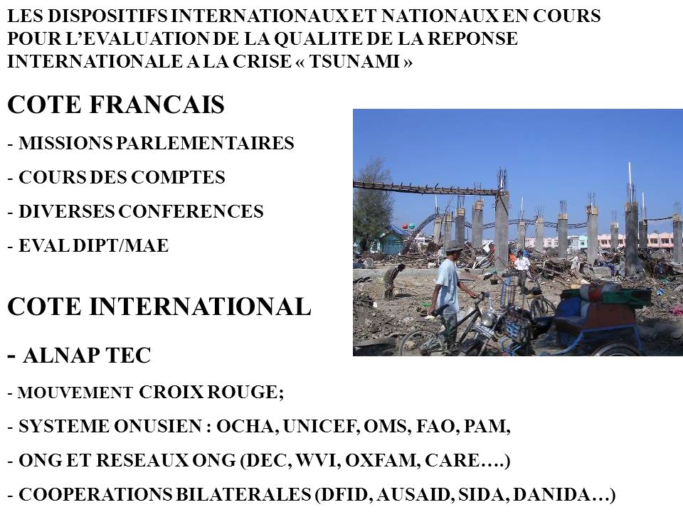 COTE FRANCAIS COTE INTERNATIONAL - ALNAP TEC