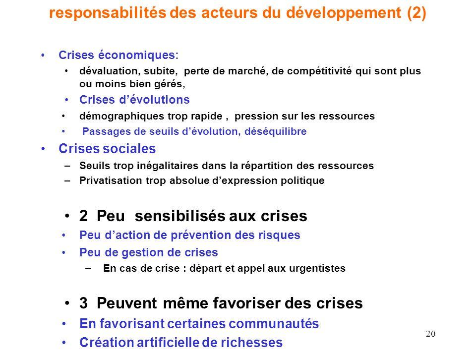 responsabilités des acteurs du développement (2)