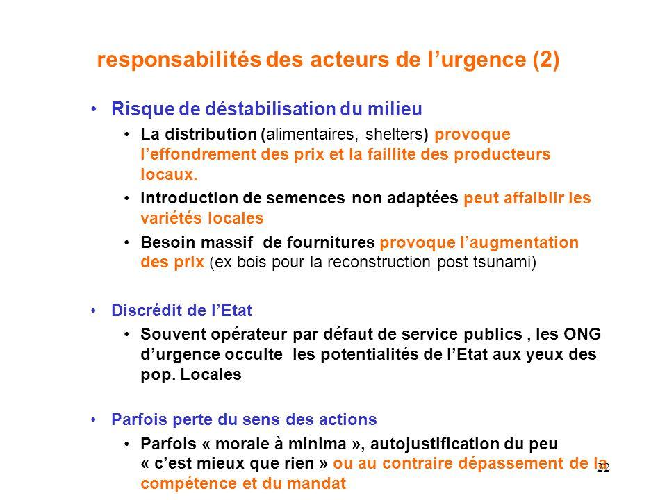 responsabilités des acteurs de l'urgence (2)