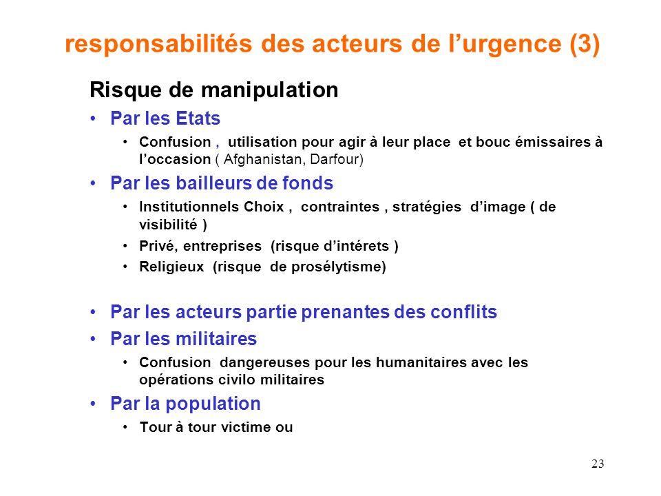 responsabilités des acteurs de l'urgence (3)