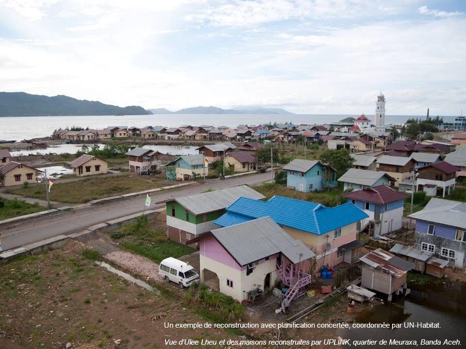 Un exemple de reconstruction avec planification concertée, coordonnée par UN-Habitat.